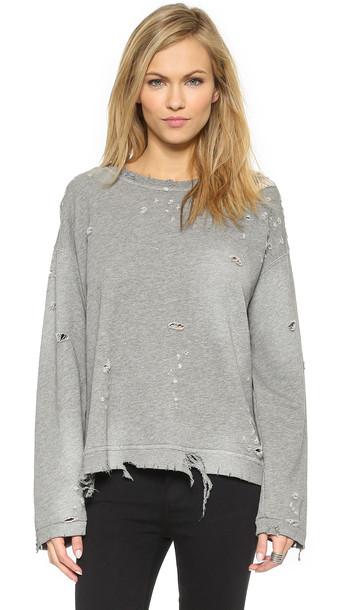 rta pullover grey sweater