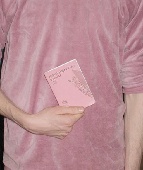 sweater crewneck pink menswear velvet