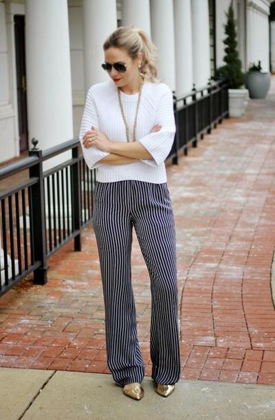 b soup blogger pants sweater jewels sunglasses bag