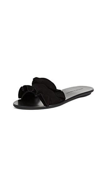 ruffle black shoes