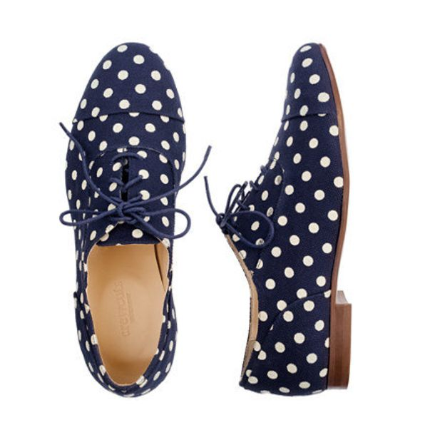 shoes polka dots navy flats