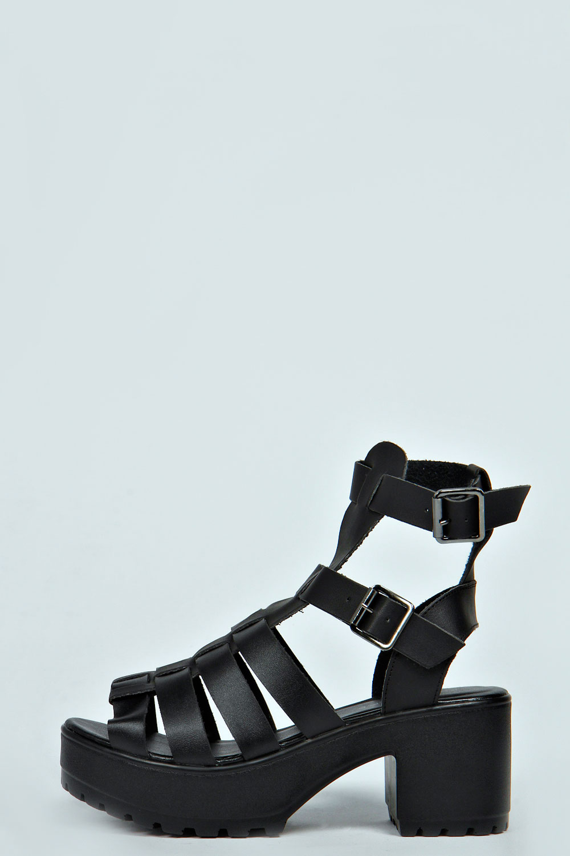 Kimmi cleated sole gladiator sandal