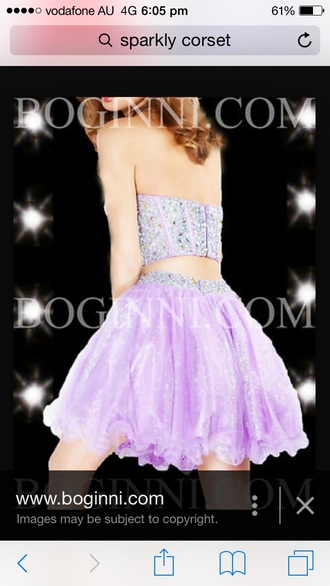 dress two-piece sparkly sparkle tutu