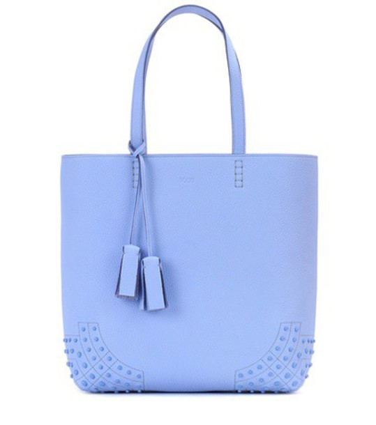 TOD'S leather blue bag