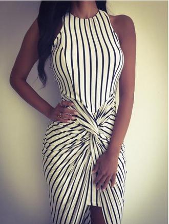 dress girl girly girly wishlist stripes striped dress black white