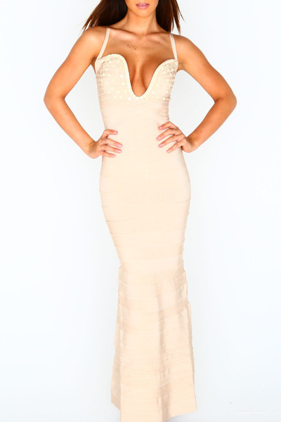 """london"" bandage gown"