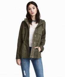 H&M Short Hooded Parka $49.99