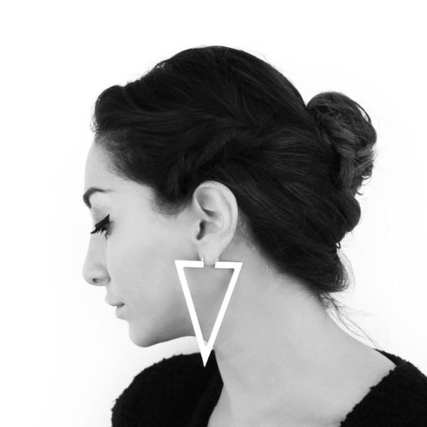 Jewels Earrings Geometric Triangle Gold Silver Triangle