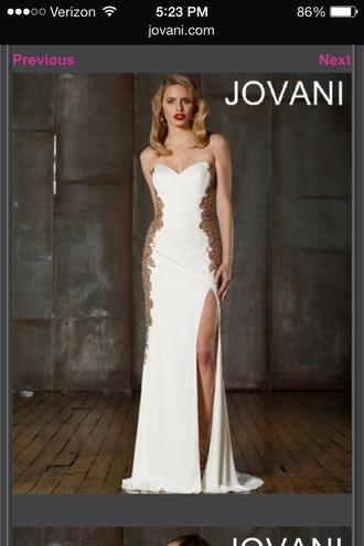 dress jovani prom dress jovani gown jovani jovani dress prom dress long prom dress 2014 prom dresses white dress gold white and gold dress strapless dress