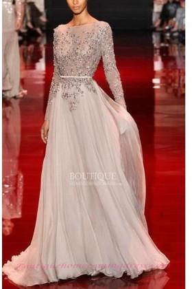 Line chiffon high neck 2015 prom dress