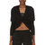 lanvin black draped shrug