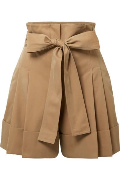 Alexander Mcqueen shorts pleated cotton