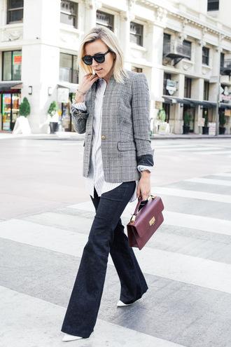 damsel in dior blogger blazer satchel bag