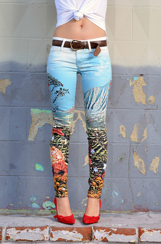 jeans tumblr colorful patterns pants tumblr girl tumblr clothes amazing cute