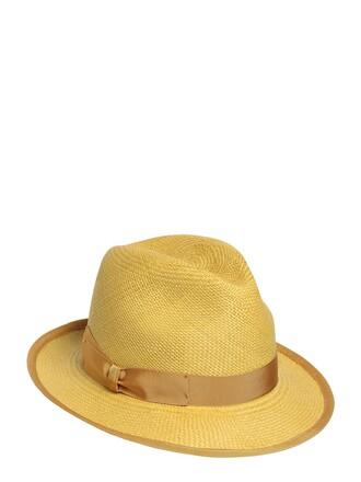 hat straw hat yellow