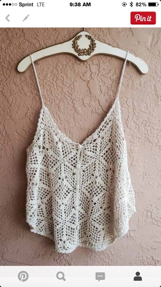 shirt boho crotchet beach crotchet shirt summer summer shirt tank tan tank top