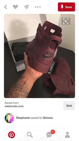 shoes maroon jordans
