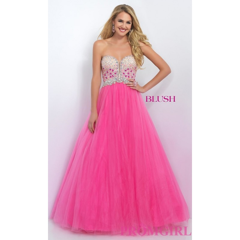 Strapless Sweetheart Long Ball Gown by Blush - Discount Evening Dresses |Shop Designers Prom Dresses|Events for 2017