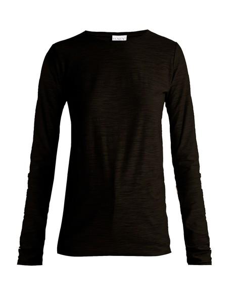 Raey t-shirt shirt t-shirt long cotton black top