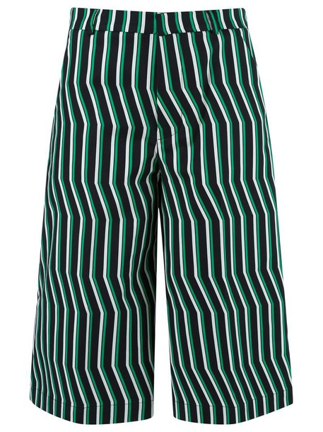 Reinaldo Lourenço culottes women spandex cotton black pants
