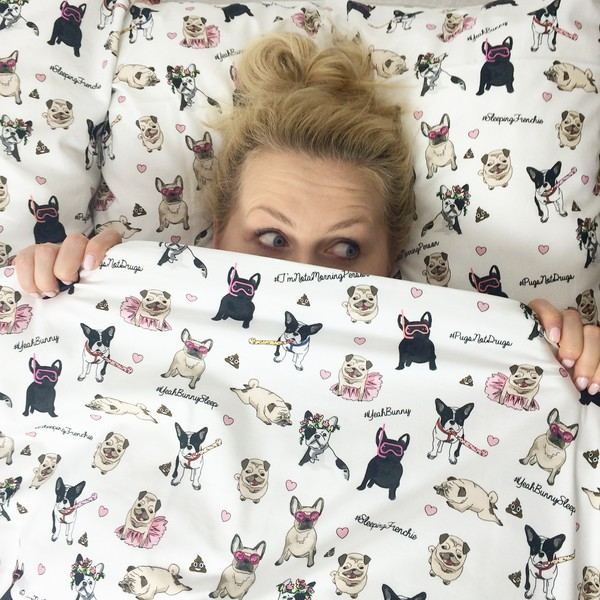 Home Accessory Yeah Bunny Pillow Bedding Cover Pugs