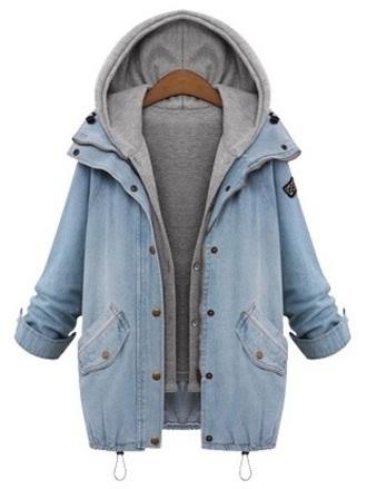 jacket denim jacket hoodie coat blue gray vest combination hooded hooded vest grey denim vest and jacket blue denim blue denim jacket light wash denim acid wash light wash denim jacket charcoal dark gray vest dark gray hooded vest gray hooded vest
