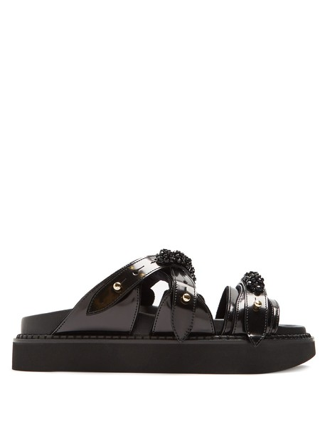 Simone Rocha embellished leather black shoes