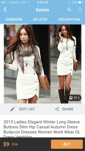 dress cream sweater dress