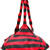 Givenchy striped geometric shoulder bag, Women's, Red, Lamb Skin