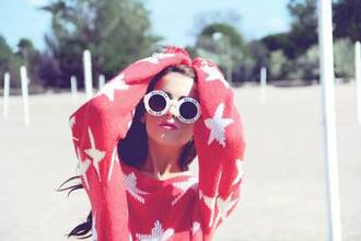 cute hipster girly sunglasses sweater summer summer sweater stars summertime hippie girly grunge