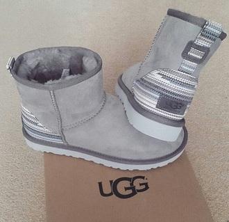 grey furry uggs