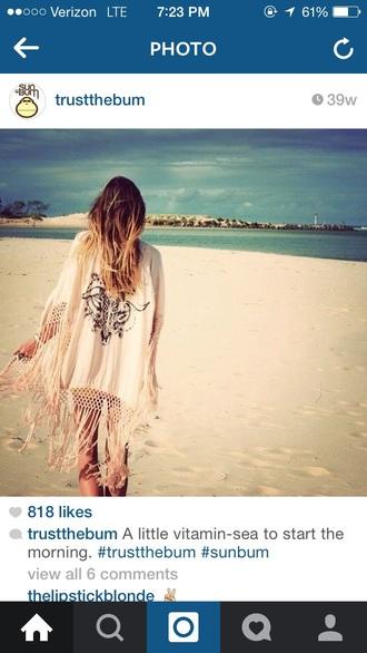 cardigan fringe kimono beach dress cover up