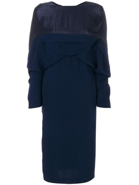 Chalayan dress women draped blue