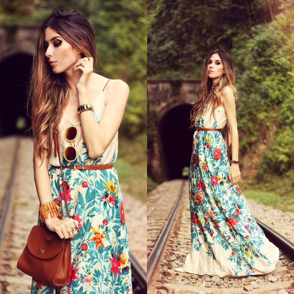 bag jewels belt dress sunglasses