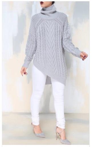 sweater asymmetrical oversized turtleneck sweater