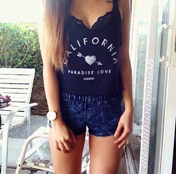 shorts cute shirt elastic short jeans