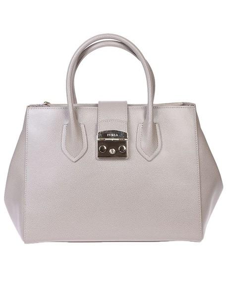 Furla bag leather bag leather beige