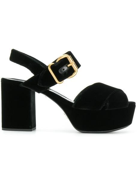 women sandals platform sandals leather black velvet shoes