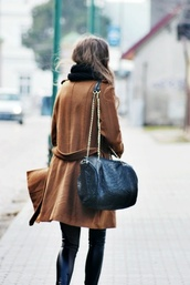 bag,coat,purse,camel,alligator,black,leather,blogger,tumblr,brown