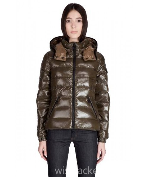 Moncler Women Bady Jacket Olive Green Bj130439