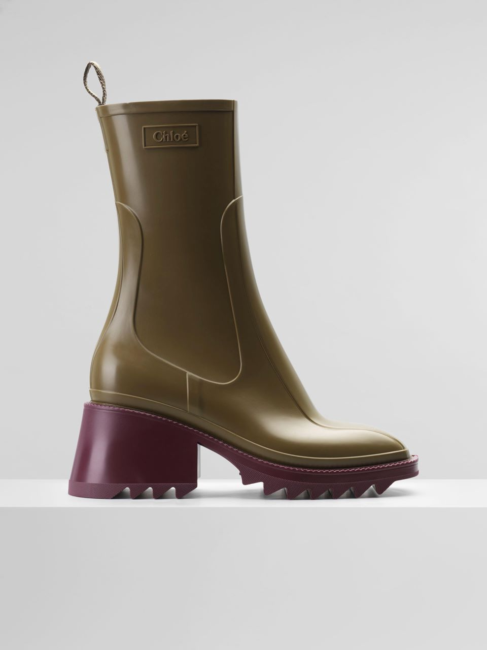 CHLOÉ Betty rain boot Women's SANTAL GREEN 100% PVC