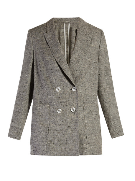 584fe5a3dff4 Isabel Marant ISABEL MARANT Kelis double-breasted donegal jacket in grey /  multi