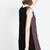 Black Contrast Lapel Sleeveless Plaid Dress - Sheinside.com