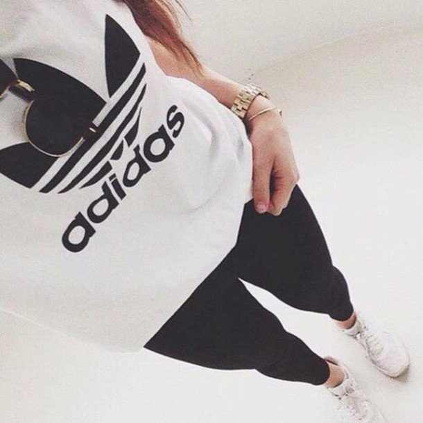adidas girls. blouse clothes adidas sweater girl fashion sportswear motivaion nike t-shirt top underwear bag coat girls t