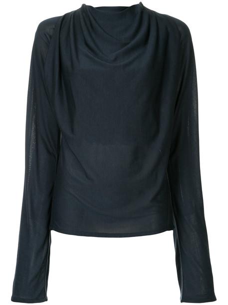 Lemaire - classic top - women - Cotton/Viscose - M, Black, Cotton/Viscose