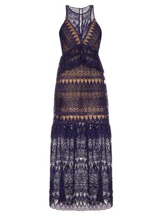 dress maxi dress maxi sleeveless lace navy