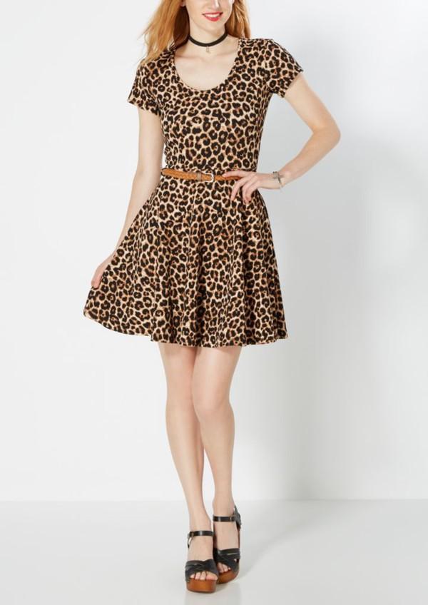 Dress Black And Cheetah Print Dress Cheeta Print Print