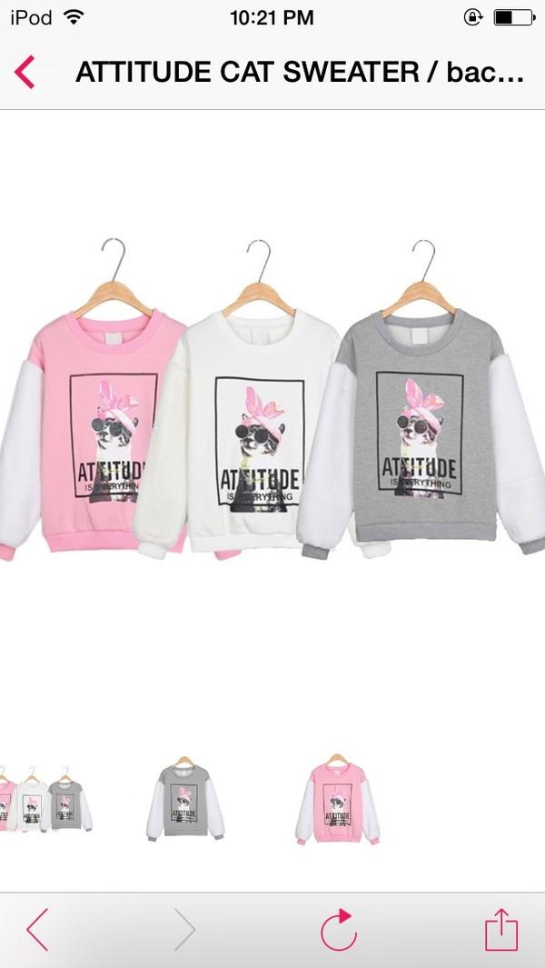 jacket cats sweater