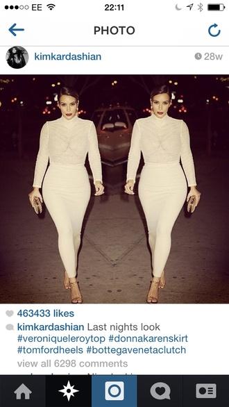 skirt kim kardashian ankle length
