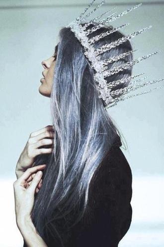 hair accessory pastel goth pastel hair crown spring grunge alternative rock indie boho chic punk goth